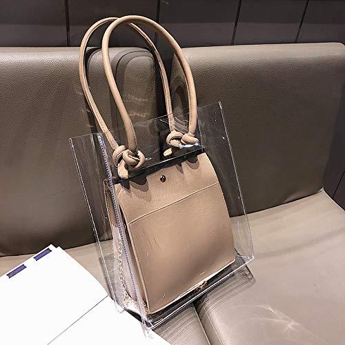 XMY Tragbare Tasche der weiblichen Wilden transparenten transparenten transparenten Beutelkettenschulter-Art und Weise B07Q2C5SSR Damenhandtaschen Neues Produkt 55c483