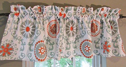 Patterned Window Valance Cotton Medallion