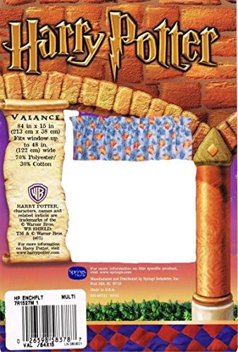 Harry Potter Gryffindor Crests and Quidditch Themed Valance Curtains Sold Separately