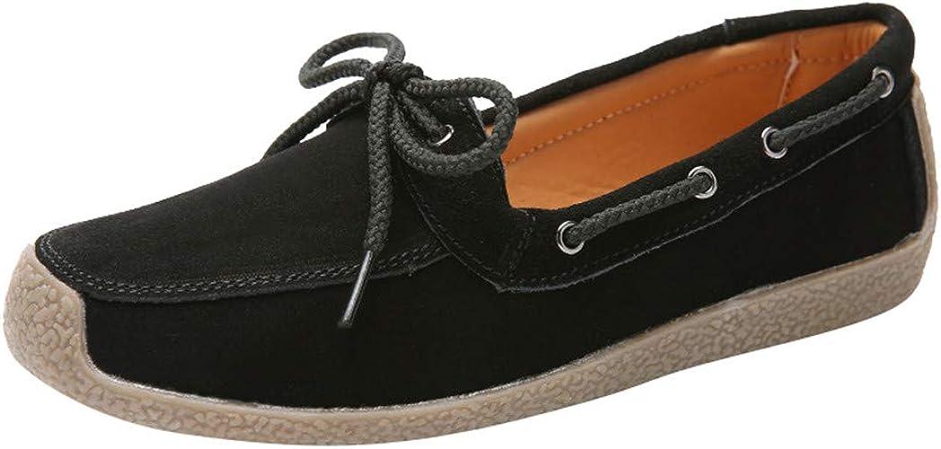 RQWEIN Women Shoes Round Toe Platform Strap Flat Heel Sandals Faux Suede Slip On Comfort Light Pointed Toe Ballet Flat