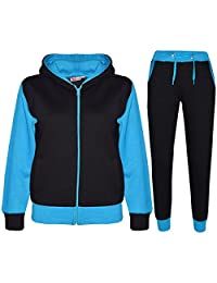 f6f8631d268e Kids Tracksuit Girls Boys Fleece Hooded Hoodie Bottom Jogging Suit Jogger  2-13Yr