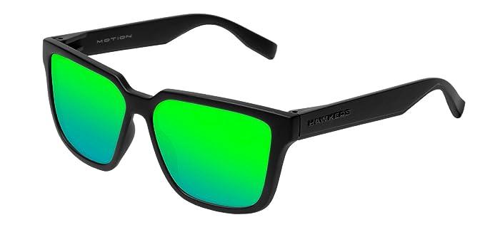HAWKERS · MOTION · Carbon Black · Emerald · Gafas de sol para hombre y mujer: Amazon.es: Ropa y accesorios