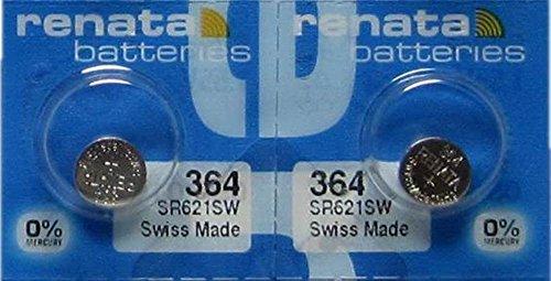 2-renata-364-sr621sw-silver-oxide-zero-mercury-electronic-batteries