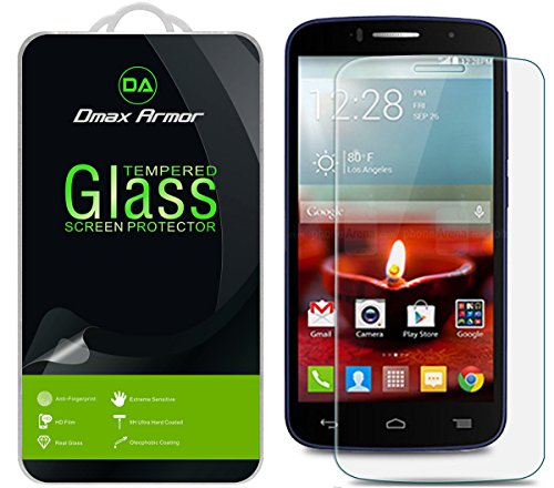 Dmax Armor for Alcatel OneTouch Pop Icon A564C Screen Protector, [Tempered Glass] 0.3mm 9H Hardness, Anti-Scratch, Anti-Fingerprint, Bubble Free, Ultra-clear