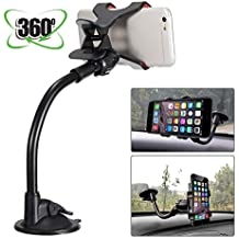 MASO Universal 360°Car Phone Mount in Car Windscreen Dashboard Holder Mount for GPS PDA Mobile Phone