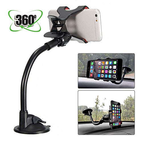 MASO Universal 360°Car Phone Mount in Car Windscreen Dashboard Holder Mount for GPS PDA Mobile Phone from MASO