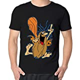 Captain Caveman And The Teen Angels Man's 100% Cotton T-shirt Black