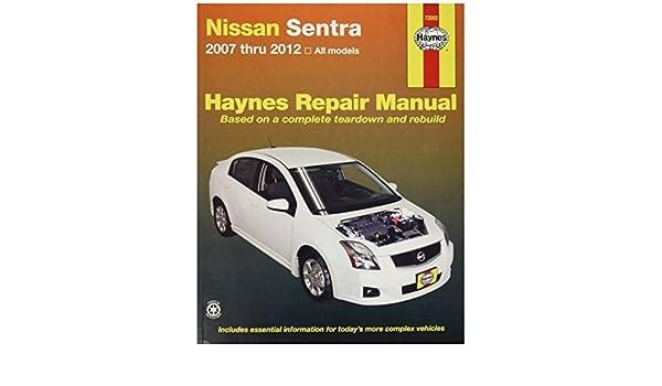 amazon com haynes repair manuals 72052 nissan sentra 07 12 by rh amazon com Nissan Sentra ManualDownload Nissan Sentra ManualDownload