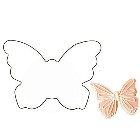 Elenxs Forma de la Mariposa Molde de Acero Inoxidable Postre de la Galleta Cortador de la Fruta DIY de la Torta: Amazon.es: Hogar