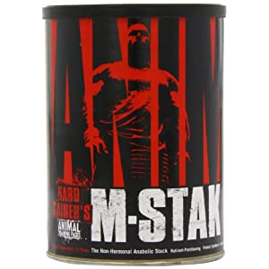 Animal M-Stak – Non-Hormonal Hard Gainers Muscle Building Stack with Energy Complex – 21 Count