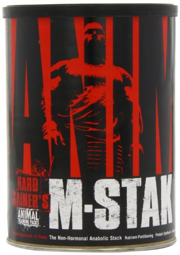 Animal M-Stak - Non-Hormonal Hard Gainers Muscle Building Stack with Energy Complex - 21 Count (Side Effects Of Taking Steroids For Bodybuilding)