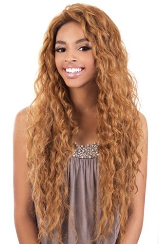 """BeShe 2"""" Deep Lace Front Wig - LACE-304 (SUPER LOOSE CURL 29"""") (1B - OFF BLK)"""