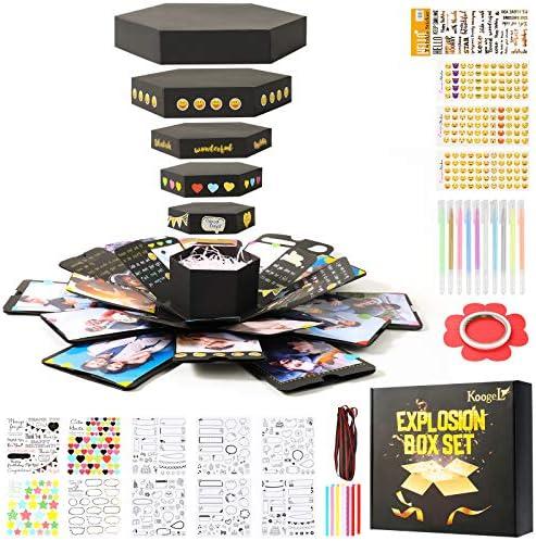 Koogel Explosion Box Set, Luxury DIY Photo Album Box Album Gift Box Surprise Gift Box for Marriage Proposals Making Surprises Birthday Christmas