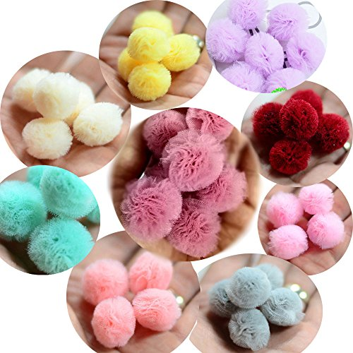 Pom Poms Balls 1 Inch Assorted Fluffy Pompoms Craft Puff Ball 540 pieces Hobby Supplies For Arts Projects Diy Creative Decorations
