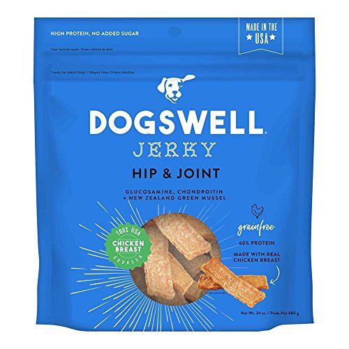 Dogswell 842192 Hip & Joint Chicken Jerky Pet Food, 24 Oz