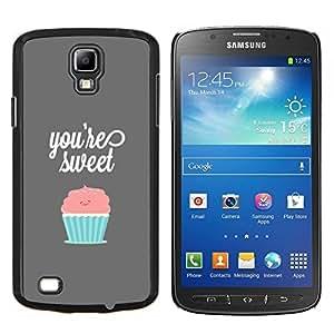 EJOOY---Cubierta de la caja de protección para la piel dura ** Samsung Galaxy S4 Active i9295 ** --ERES LA MAGDALENA DULCE PASTEL