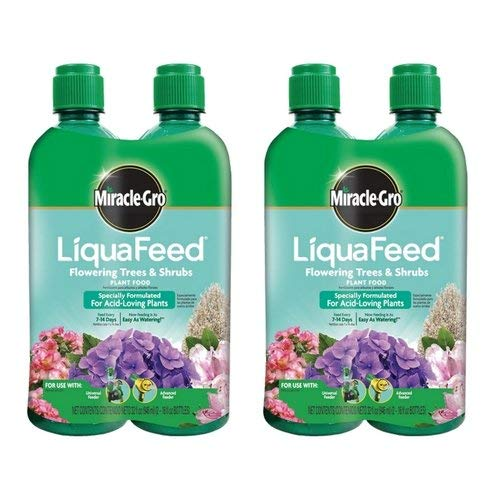 Food Refills Plant (Miracle-Gro LiquaFeed Flowering Trees and Shrubs Plant Food Refill Pack (2 Pack), 4 bottles)