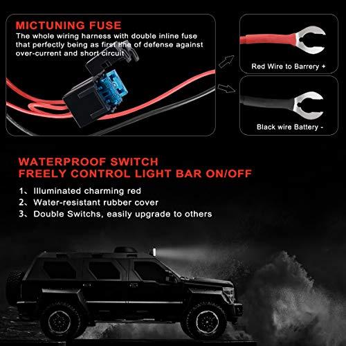 KAWELL Universal 1 Lead LED Light Bar Wiring Harness Kit ... on