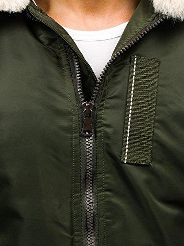 Verde elegante Giacca Trapuntata Bolf Chiusura Collo Stile Uomo 4d4 Da – 1026 Alto Mezza Stagione Doppia Urbano ZwdwTqz