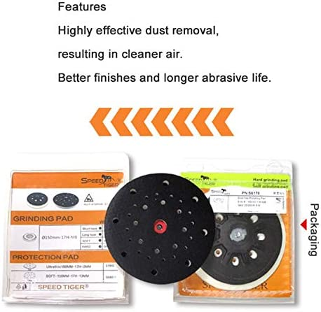Surobayuusaku 6 inch 17 holes Grinding Machine Sandind Pad Back Up Sanding Pad Automobile Surface Polishing Soft and Hard Sanding Pad
