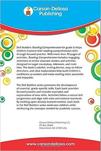 Reading Comprehension, Grade 6 (Skill Builders): Carson-Dellosa ...