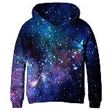 KNTOUDX Big Girls Fleece Galaxy Sweatshirts Pullover Hooded Hoodies NO10 XL