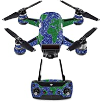 Skin for DJI Spark Mini Drone Combo - Bling World| MightySkins Protective, Durable, and Unique Vinyl Decal wrap cover | Easy To Apply, Remove, and Change Styles | Made in the USA