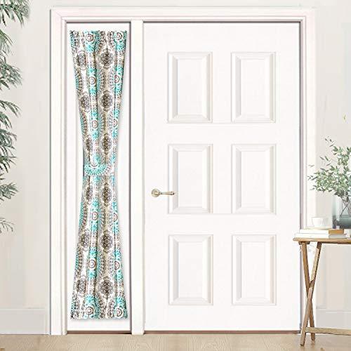 DriftAway Bella Door Curtain, Sidelight Curtain,Thermal Rod Pocket Room Darkening Privacy Front Door Panel, Single Curtain with Bonus Adjustable Tieback, 25