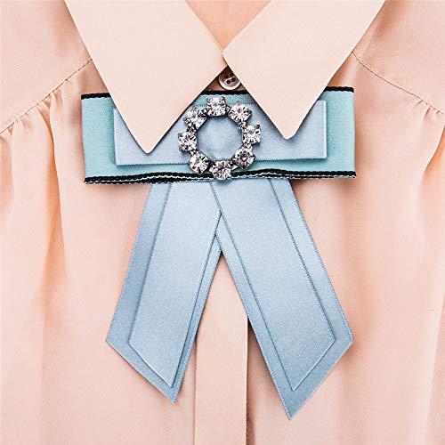HeroStore Fashion Retro Brooches Ribbon Bowknot Vintage Collar Pins Corsage Shirt tie Cravat Wedding Broches Jewelry Women Gift Party
