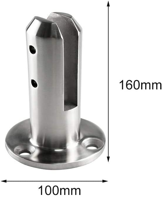 Ganquer Spigots Stainless Steel Pool Glass Clamp Stairs Floor Stand Railing Balustrade Swimming Pool Supplies
