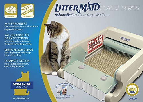 Littermaid LM680C Automatic Self-Cleaning Classic Litter Box (LM680C) Removes Waste And Controls Offensive Odors Perfect For Single Or Multi Cat Households