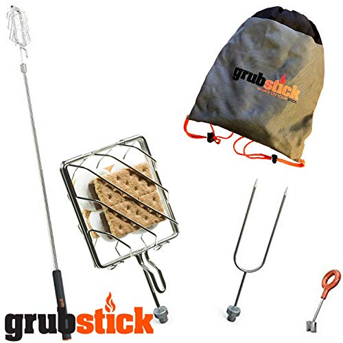Grubstick- Smores Stick for Fire Pit 4 Piece Smores Kit + Free Bag | Camping Skewers 37