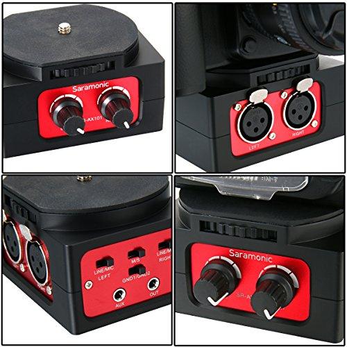 Saramonic SR-AX101 Passive Audio Adapter Dual XLR Inputs for DSLR Cameras TV02