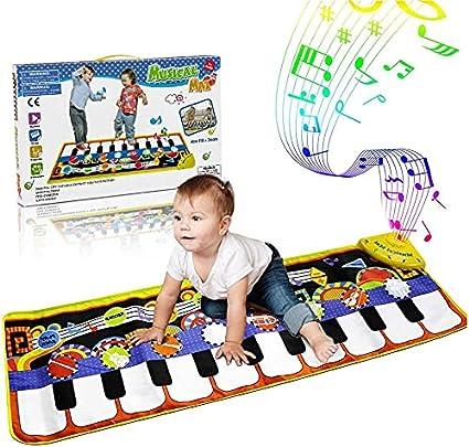 WOSTOO Alfombra para Piano, Alfombra de Teclado Táctil Musical Touch Juego Musical Portátil Electrónico Educativo Musical Tapete de Piano DE 19 Teclas ...