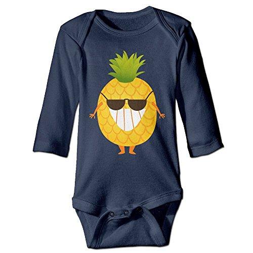 Baby Romper Climbing Clothes Infant Bodysuit Sunglasses Pineapple Jumpsuit Long Sleeve - Juice Sunglasses Blue