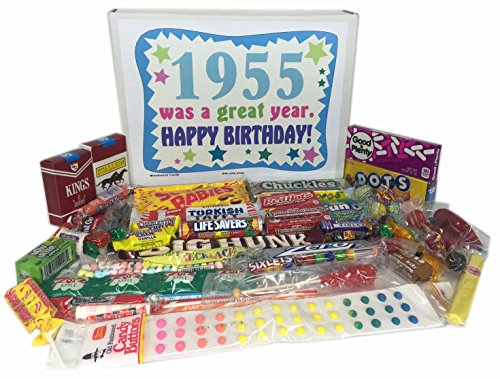 1955 62nd Birthday Gift Box of Retro Candy from Childhood