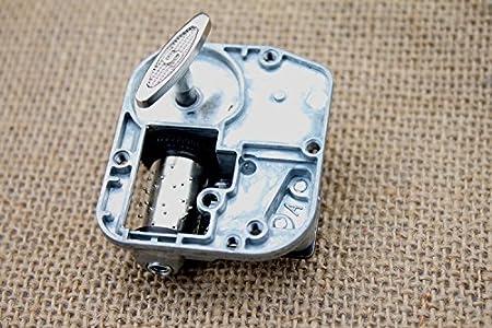 Laxury 18/Note Windup mecanismo de chapado en oro dise/ño DIY caja de m/úsica movimiento diferentes dulce melod/ía disponibles