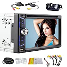 Android 4.4.4 6.5 Inch In Dash 2 Din DVD Player Stereo Touch Screen GPS Navigation with Back Up Camera for Universial Car Bluetooth WIFI Headunit Car Stereo
