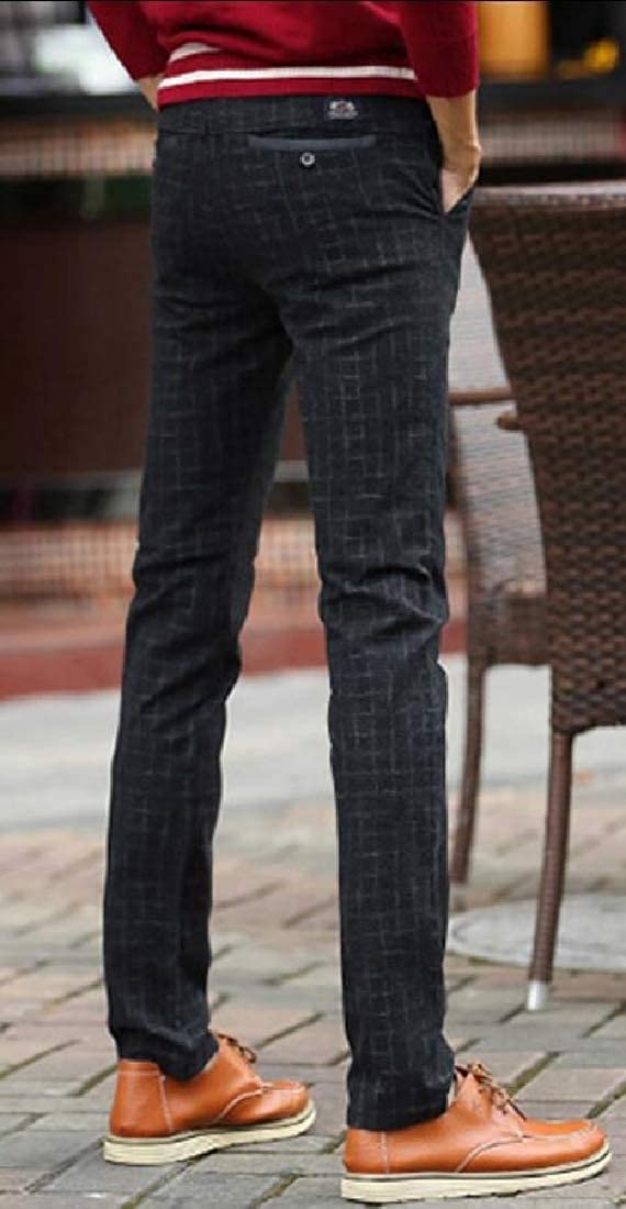 Gocgt Mens Flat Front Trousers Wrinkle-Free Casual Stretch Pants