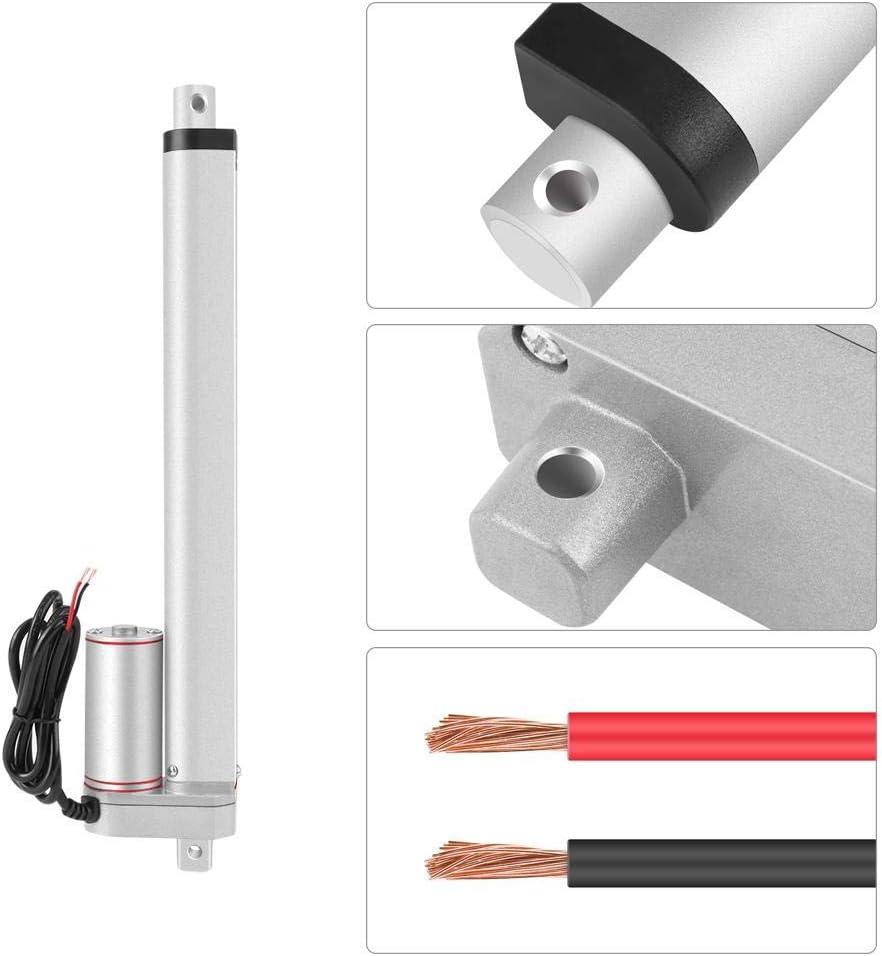 Actuador lineal, carrera de 250 mm, alta resistencia 750N Línea recta Actuador lineal eléctrico Actuadores de guía de movimiento lineal de 24 V con soporte de montaje