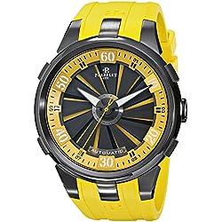 Perrelet Men's A1051/7 Turbine XL Analog Display Swiss Automatic Yellow Watch