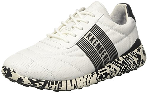 Bikkembergs Strik-ER 2128, Sneaker Uomo Bianco (White/Black)