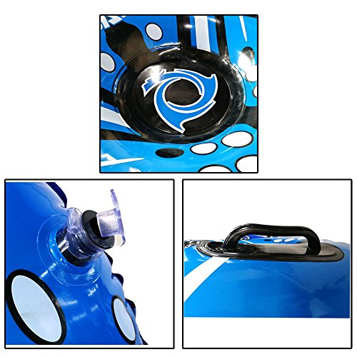Snow Tube Air Tube 39 Inch Inflatable Snow Sled With