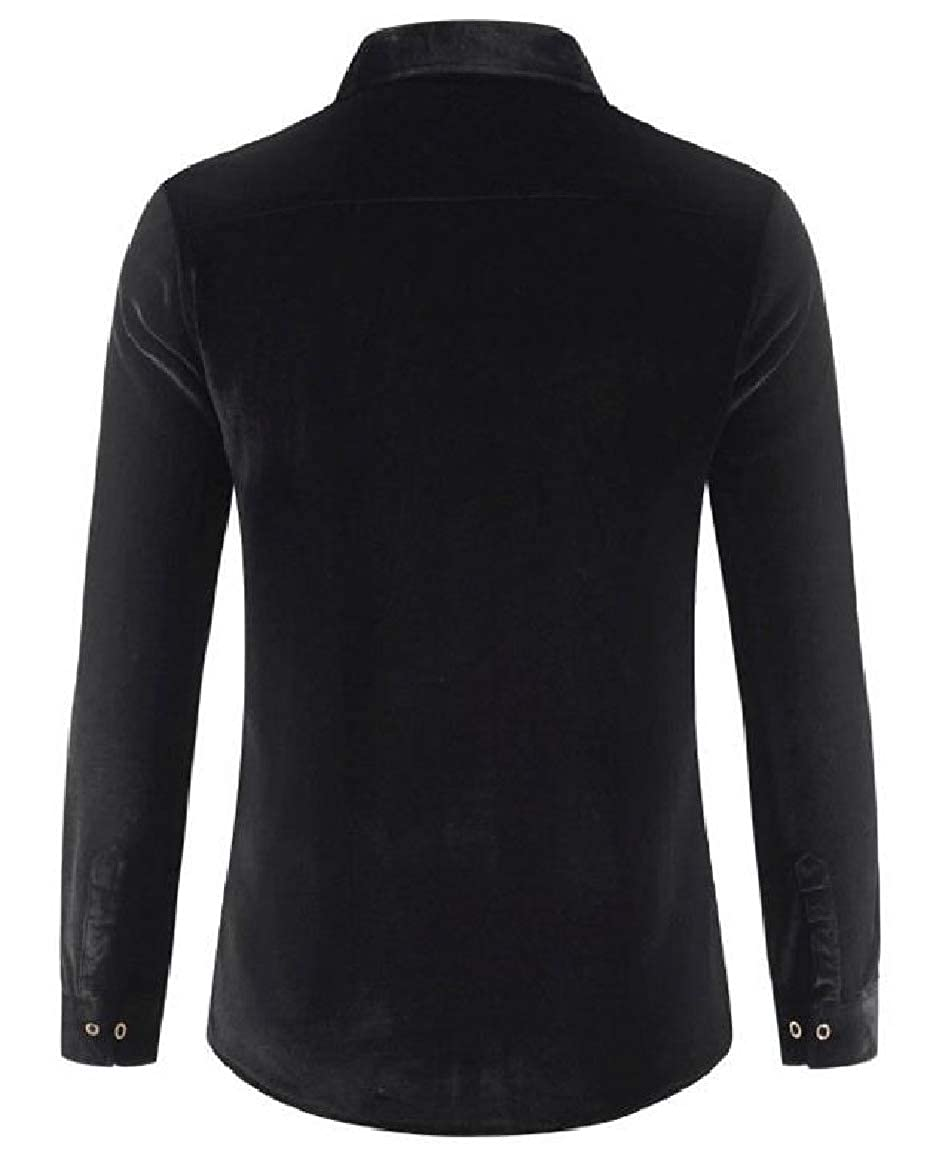 QUHS Mens Warm Relaxed-Fit Long-Sleeve Velvet Fall /& Winter Thick Shirt