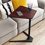 Carbon Steel Snack Table with Brown Density
