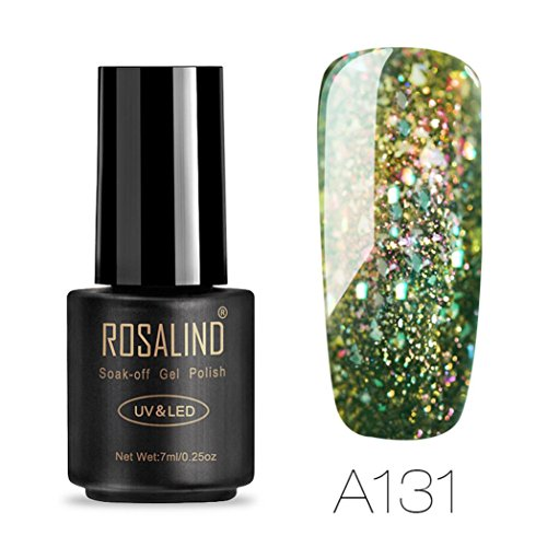 Gel Nail Polish,Lavany 7ML UV LED Gel Nail Polish Glitter Na