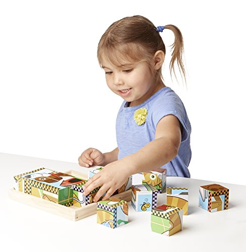 Melissa & Doug Pets Wooden Cube Puzzle With Storage Tray (16 pcs) by Melissa & Doug (Image #2)