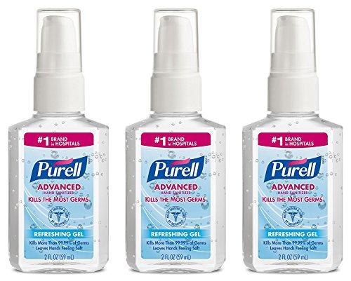 Scrubs Hand Sanitizer (Purell Advanced Hand Sanitizer Refreshing Gel, Pump Bottle, 2 oz, 3-Pack)