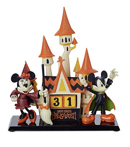 Disney Parks Mickey and Minnie Mouse Halloween Countdown Figurine Calendar