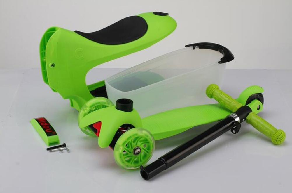 29cff5212 ... verde HJXJXJX Dos colores opcional tres-en-una maleta niños scooter  scooter scooter , verde